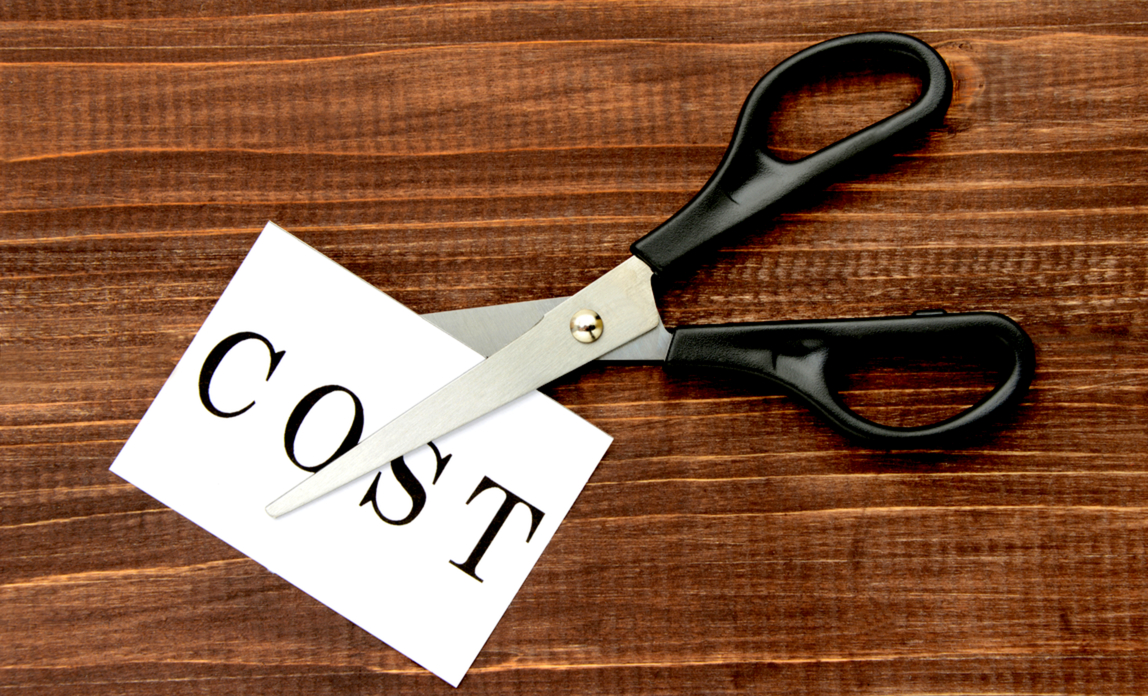 scissors cutting through costs
