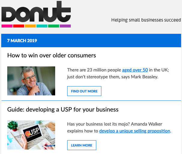 Donut newsletter header