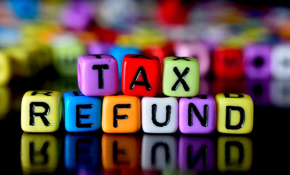Claim a tax refund - tax refund cubes