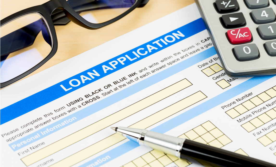 Business owner making loan application for equipment