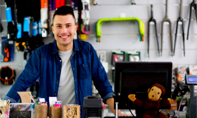 Small business owner is optimistic about his business' future