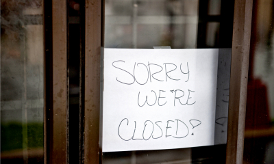 Sorry we are closed not on the shop door