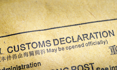 Customs declaration marking