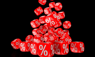 Cubes with percentage signs