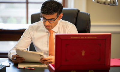 Chancellor of the exchequer, Rishi Sunak, prepares the 2020 budget statement