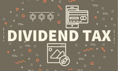 A graphic saying dividend tax